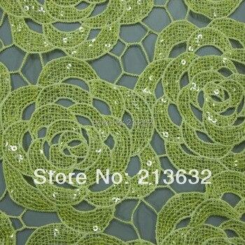 POs51-50 수용성 자수 면화 패브릭 섬유 폴리 에스터 수 놓은 커튼 직물 도매 명소 가용성 자수