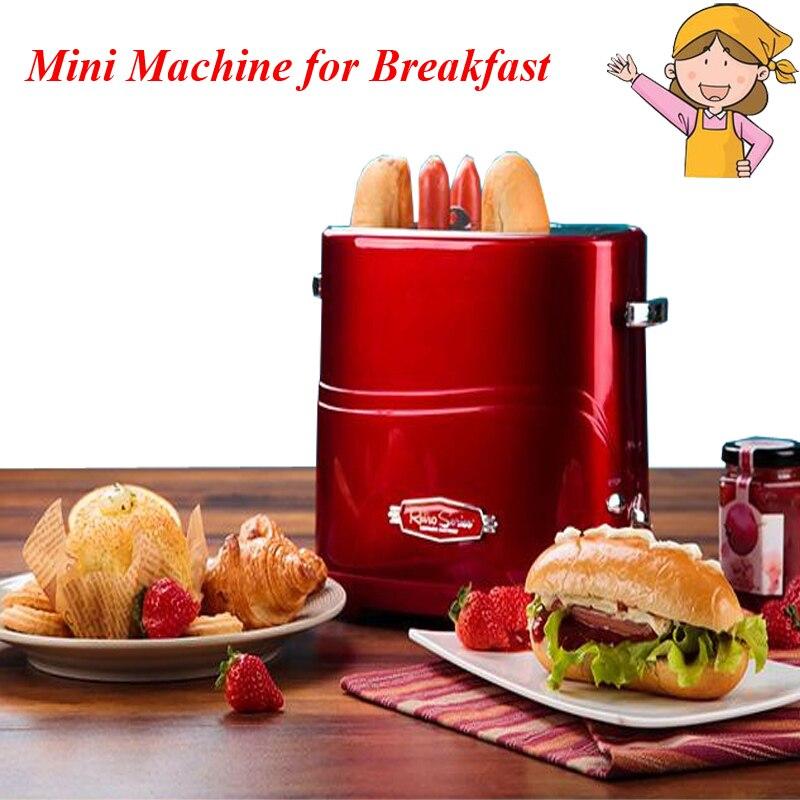 Household Automatic Breakfast Making Machine American Mini Hot Dog Machine Bread/ Sausage Maker Toast Furnace
