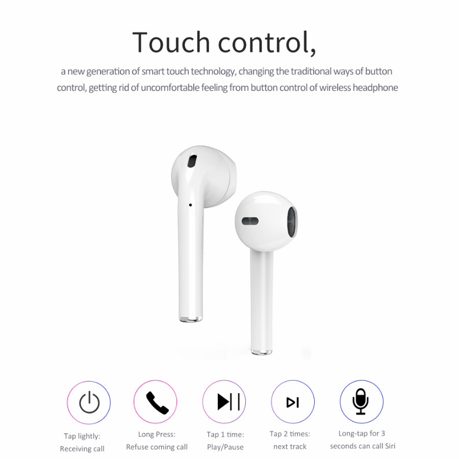 Bluetooth Earphone Wireless earphones Touch control Earbuds 3D Surround Sound Charging case for iPhone Android phone in Bluetooth Earphones Headphones from Consumer Electronics