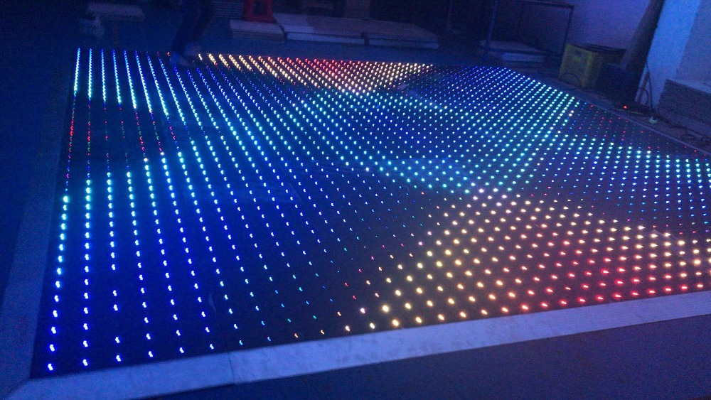 Us 4849 0 16x16ft Full Color Rgb Led Video Dance Floor Tile Lumiere Weight For Disco Club In Stage Lighting Effect From Lights