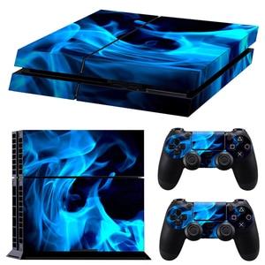 Image 2 - الكلاسيكية PS4 الجلد التمويه الفينيل غطاء Decal PS4 الجلد ملصق لسوني بلاي ستيشن 4 وحدة التحكم و 2 تحكم ملصق