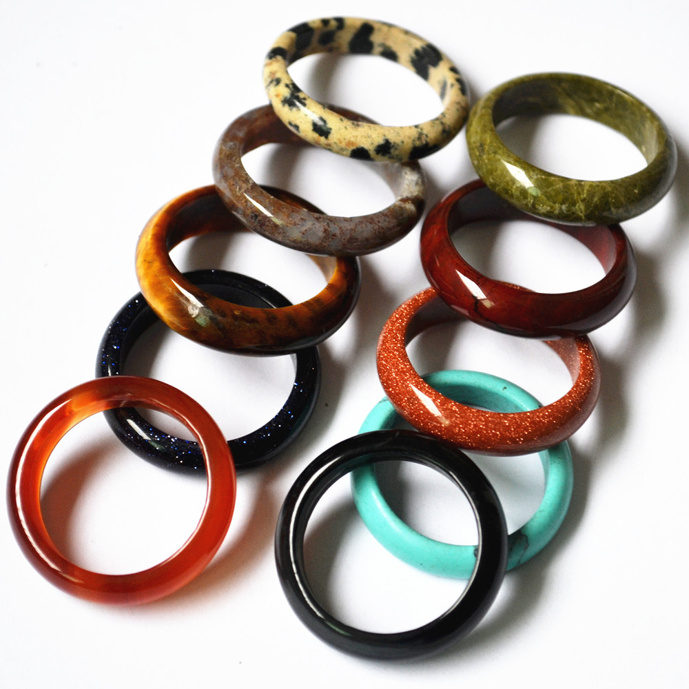aliexpresscom buy new 2017 top quality onyx opal tiger eye fashion mix color natural stone wedding bands rings for women 10pcs 8mm 18 20 22 from