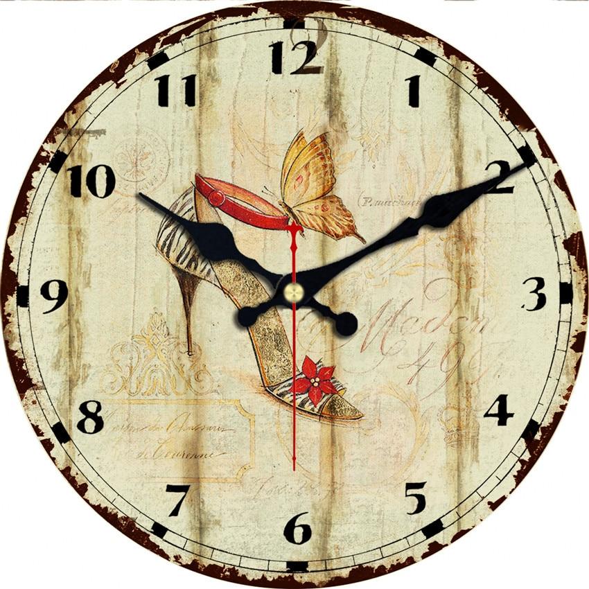 Graceful High Heels Design Wall Clock Relogio De Parede