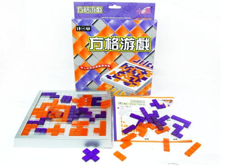 Parent kids interactive square chess games / Children plastic blokus for IQ intelligence sudoku educational toys