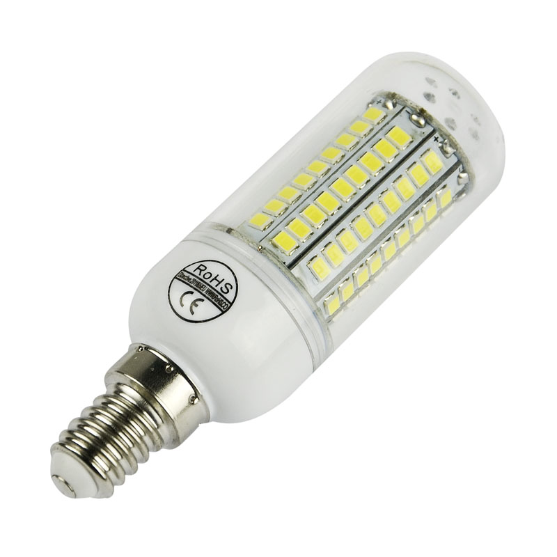 More Stable SMD2835 led corn bulb 220V/110V chandelier led light 27 48 68 102 126leds Lampada LED bulb white/warm white