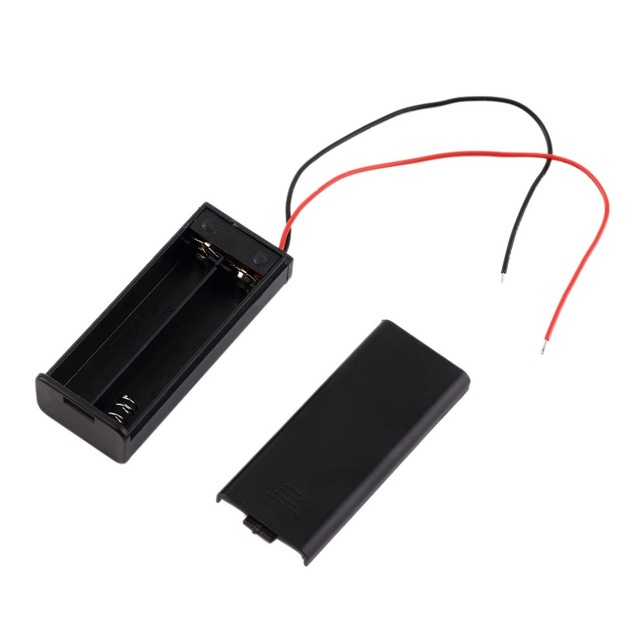 New 2 * AAA Battery Storage Case Box Holder for 2pcs AAA Batteries ...