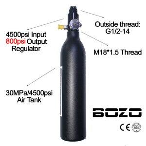 Image 2 - ペイントボール PCP ダイビング登山空気タンクシリンダー 4500psi/30MPA 0.2 0.35 0.45L HPA 高圧縮ボトル M18 * 1.5 レギュレータ