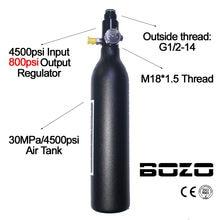 *1.5 регулятор пейнтбол PCP и дайвинг Альпинизм бак воздуха цилиндра 4500psi/30МПА 0.2 0.35 0.45 Л гПа высокого сжатия бутылки М18