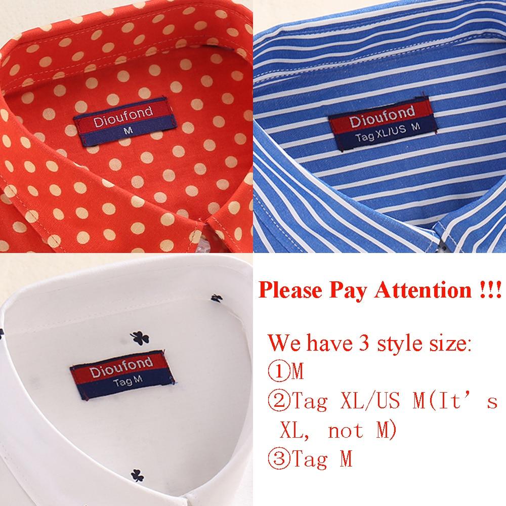 Dioufond Wanita Cotton Shirts Mode Vintage Blus 5XL Plus Ukuran - Pakaian Wanita - Foto 6