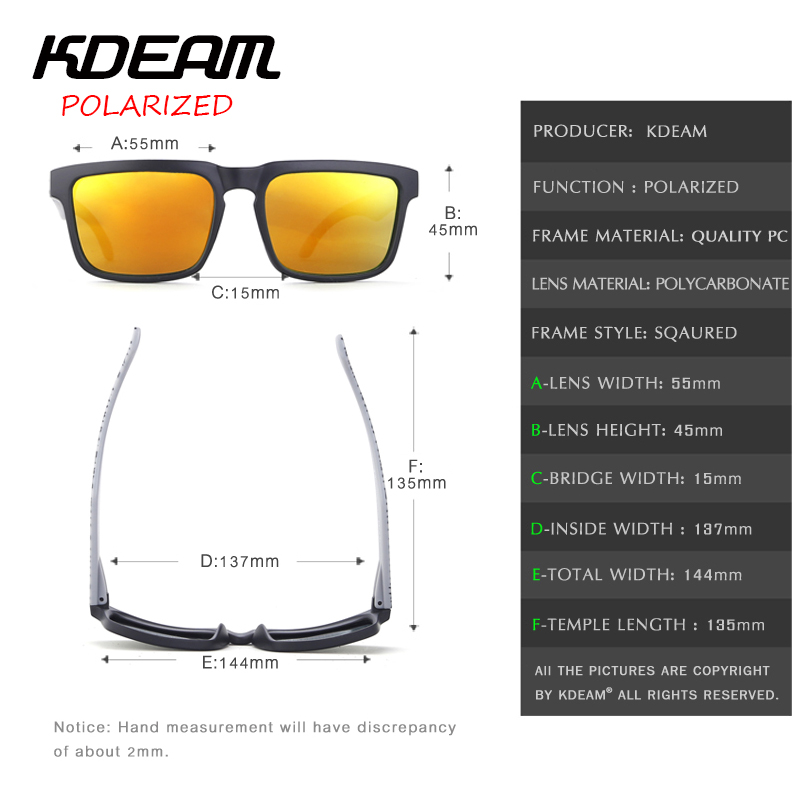 5b28c682d4 KDEAM 2017 new Square Sunglasses Men Polarized Sun Glasses Women Sport HD  Red lens UV400 With Hard Case KD901P C13-in Sunglasses from Apparel  Accessories on ...