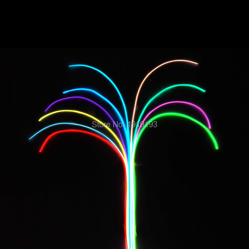 1.3mm 1-25Meter EL wire Glowing 10 Color Choice LED Strip neon light Flexible Wire For Craft Model ,bag ,Decoration
