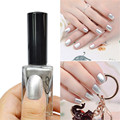 1 Pc 15ml Shimmer Silver Color Enamel Design Tips Decorations Varnish Matte Nail Polish