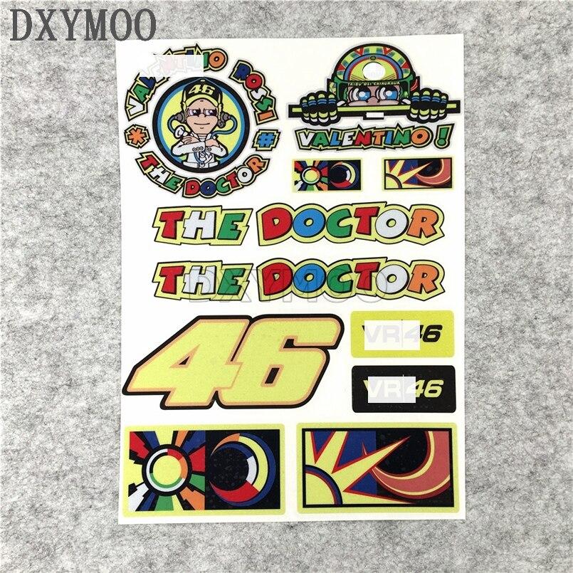Moto GP Rossi 46 Sun Atv Moon The Doctor Car Stickers Motocross World Racing Decals SBK Vinyl Decals 21x29cm цена и фото