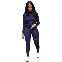 YJSFG HOUSE Fashion Womens 2PCS Sets Tracksuits Autumn Sportswear Set Ladies Long Sleeve Hoodies Hollow Pant Loungewear Suits