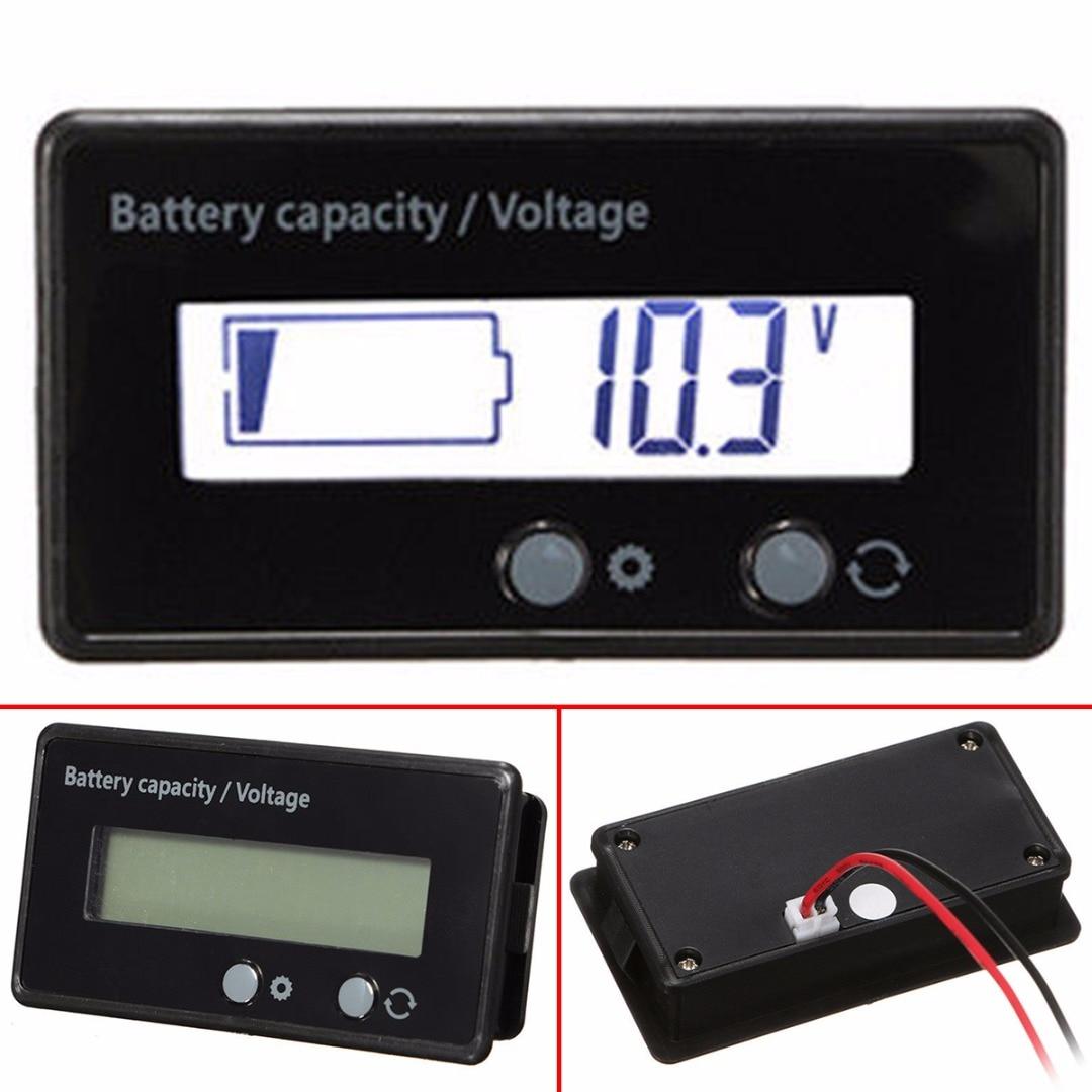1pc Battery Capacity Indicator White LCD Display 12V 24V 36V 48V Acid Lead String Lithium Digital Battery Voltage Tester Mayitr battery capacity tester with lcd indicator for 12v 24v 30v lead acid lithium lipo