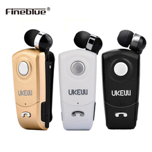 UK-8 fineblue Headphones Headset Earphone Mic with call vibration Bluetooth earphone black gold white clip on