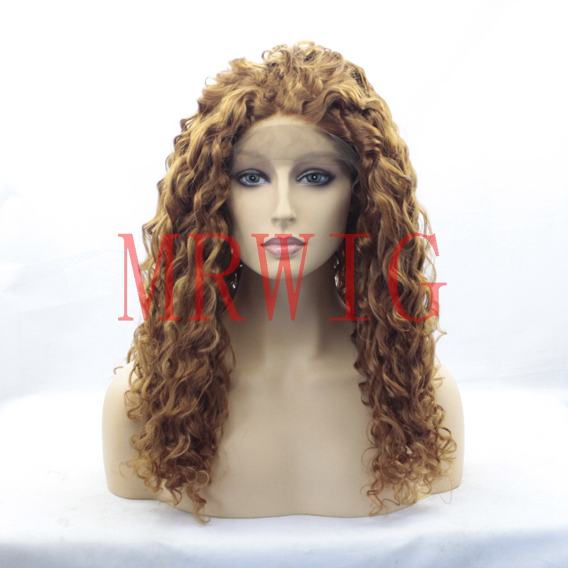 MRWIG #26 Blonde Hair Lace Front Hair Wigs Synthetic Hair Wigs For Women 22inch Real Hair 150%Density