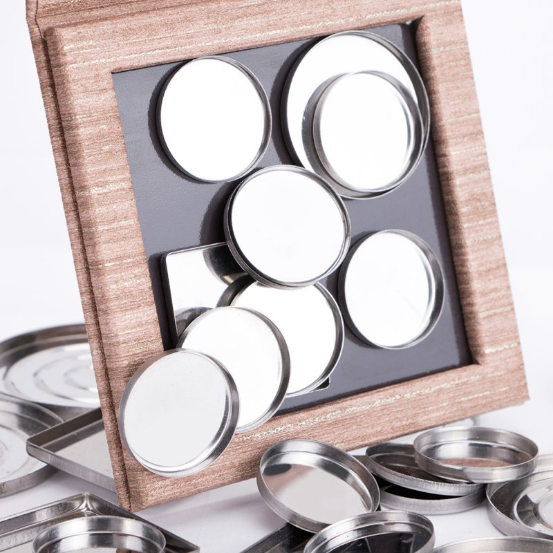 Magnetic Makeup Palette Wood decorative DIY Eye Shadow Pigment Tray Holder pattern Box(just Box)