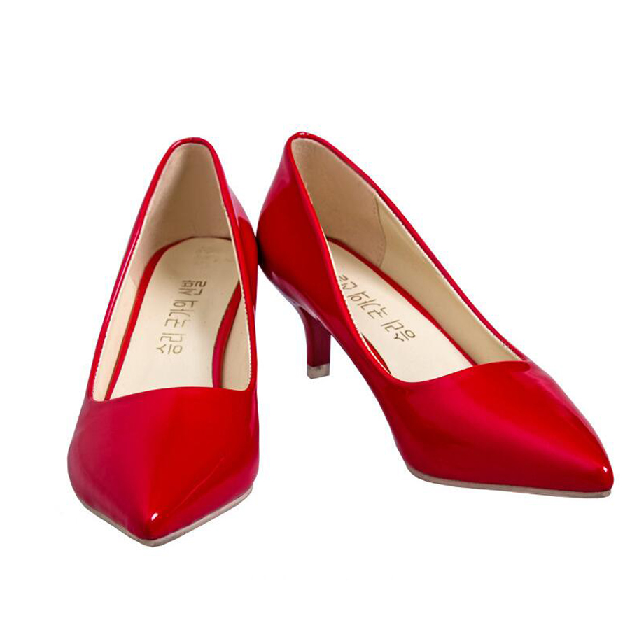 Newest Fashion spring summer women solid Pointed Toe slip-on thin heels all-match office career casual pumps shoes new hot spring summer high quality fashion trend simple classic solid pleated flats casual pointed toe women office boat shoes