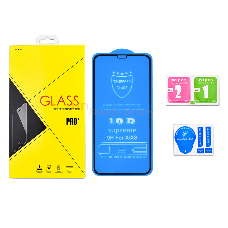 100pcs DHL For iPhone 7 8 6 Plus 10D Tempered Protective Glass Full Cover For iPhone