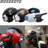 Motorcycle Cafe Racer Headlight Fairing 5 3/4 Front Light Mask Cover for Harley Chopper Bobber Sportster Dyna Softail