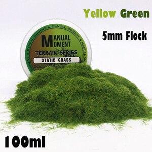 Sandboxie Scene Model Materia Yellow Green Turf Flock Lawn Nylon Grass Powder STATIC GRASS 5MM Modeling Hobby Craft Accessory