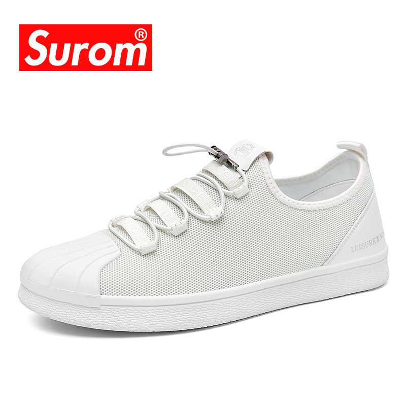 SUROM Flat Shoes Women Luxury Brand Spring Autumn New Fashion Sneakers Women Classic Canvas White Casual Shoes Woman Loafers ледянка cut the rope 92х0 5см уп 12 1toy