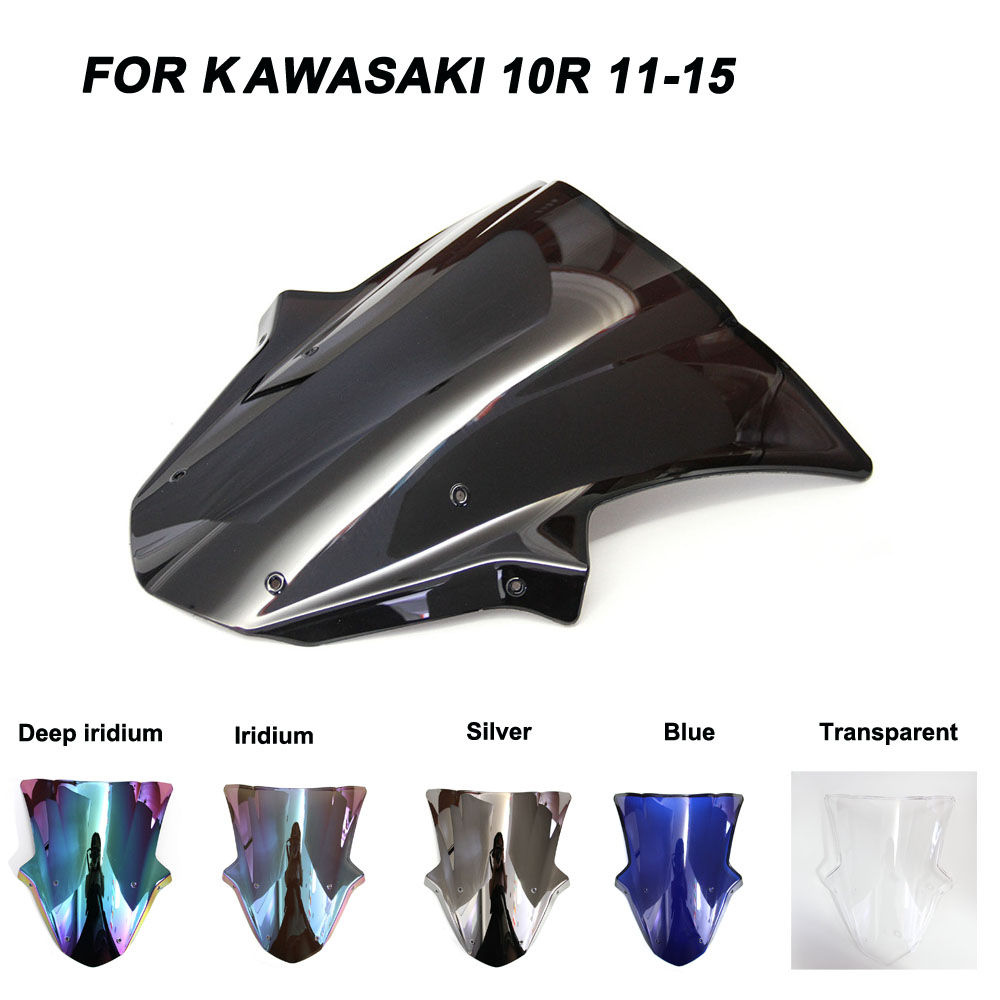 For 11-15 Kawasaki <font><b>Ninja</b></font> ZX-10R ZX10R Motorcycle <font><b>Windscreen</b></font> Windshield Wind Deflectors Accessories 2011 2012 2013 2014 2015 image