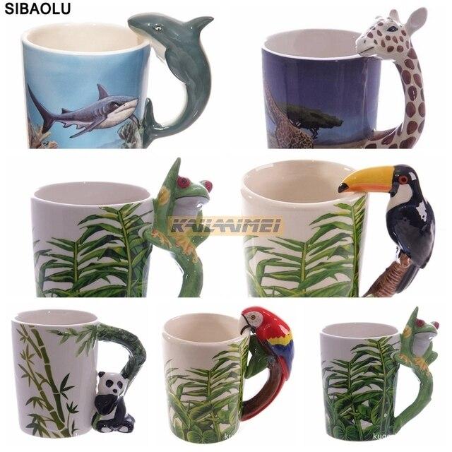 50pcs animal elephant shaped handle mug design ceramic for Animal shaped mugs