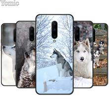 Alaskan Malamute Siberian husky dog Black Case for Oneplus 7 7 Pro 6 6T 5T Silicone Phone Case for Oneplus 7 7Pro Soft TPU Cover
