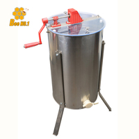 BEE.NO.1 Beekeeping Tool 3 Frame Manual Honey Extractor Beekeeping Equipment Bee Honey Extractor 304 Stainless Steel Supplies