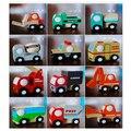 X003 12 шт. деревянная модель автомобиля игрушка скорой помощи вилочного погрузчика автобус полицейский грузовик образовательных toys мусоровоз автомобиль огня дети