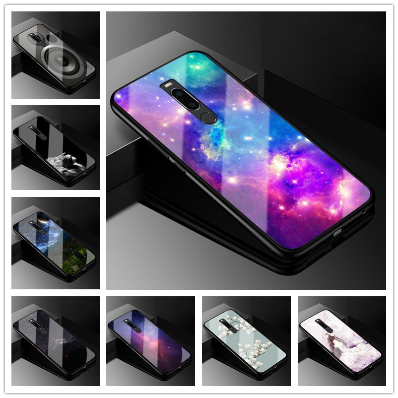 For Meizu M8 Case 5.7 inch Glass Back Hard Phone Case For Meizu M8 Case M 8 Cover Tempered Soft Bumper Cartoon for meizum8 coque