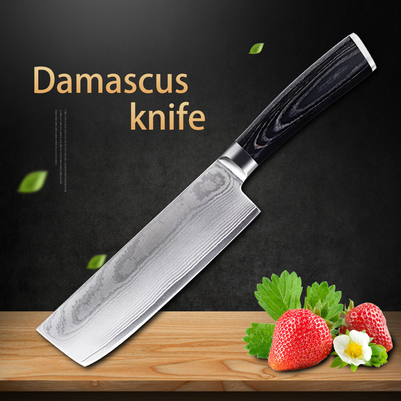 Damascus knives kitchen Japanese damascus vg10 chef knife 67 layers damascus steel kitchen knives Timhome-in Kitchen Knives from Home & Garden    1