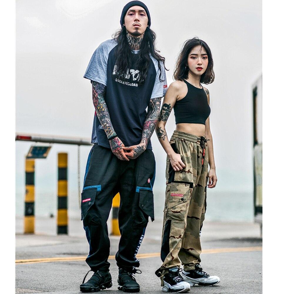Pantalon cargo baggy pour hommes harem pantalon de survêtement décontracté camouflage hip hop mode tactique steampunk chino camo streetwear harajuku