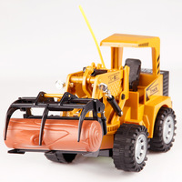 Remote control engineering vehicle 5 channel project grab wood model toy forklift rc toys for children