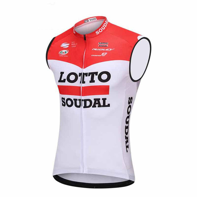 75681e1f2 Lotto team Cycling Jersey 2018 Pro Team Sleeveless Cycling Clothing Bicycle  Clothes 100%Polyester MTB Bike maillot Ropa Ciclismo