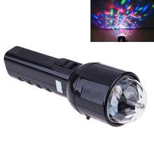 Dj Laser Machines Disco Light Stage Colorful Crystal LED RGB Flashlight Dual Use 3W
