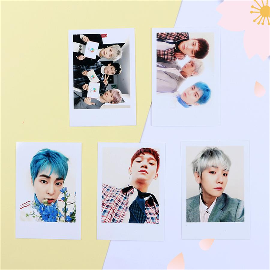 Kpop Exo Cbx Blooming Days Album Sticky Crystal Photo Cards Xiumin Chen Photocard Sticker Poster 10pcs Beads & Jewelry Making Jewelry & Accessories