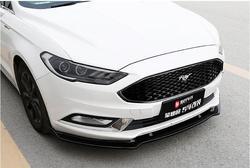 Abs samochód przedni rozgałęźniki LIP SPOILER zderzak dla Ford Mondeo/Fusion 2013 2014 2015 2016 2017 2018 2019 3 sztuk/zestaw