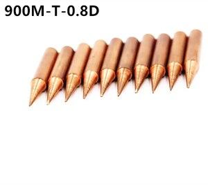 Image 2 - 15 أنواع 10 قطعة/الوحدة النحاس النقي لحام الحديد نصائح عدة 900M T سلسلة لحام خالية من الرصاص رئيس لحام أداة محطة إعادة العمل