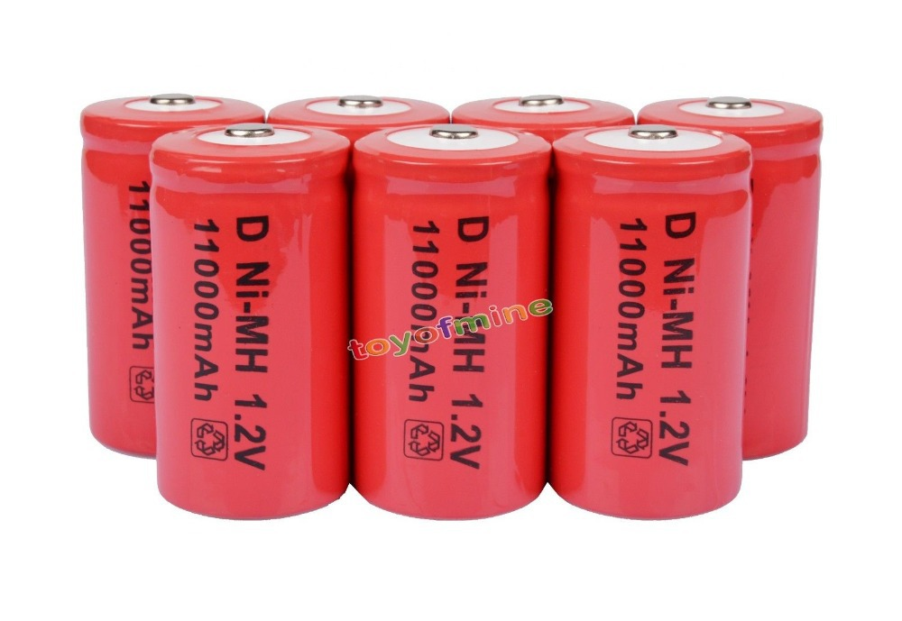 7x D size Rechargeable Battery 11000mAh NiMH RED 1.2V7x D size Rechargeable Battery 11000mAh NiMH RED 1.2V