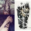 5x Etiqueta Engomada Del Tatuaje Temporal Arte Corporal Impermeable Grande Guapo Tatouage Tatuajes Tatoo Fake Henna Maquiagem Maquillaje Para Hombre Mujer