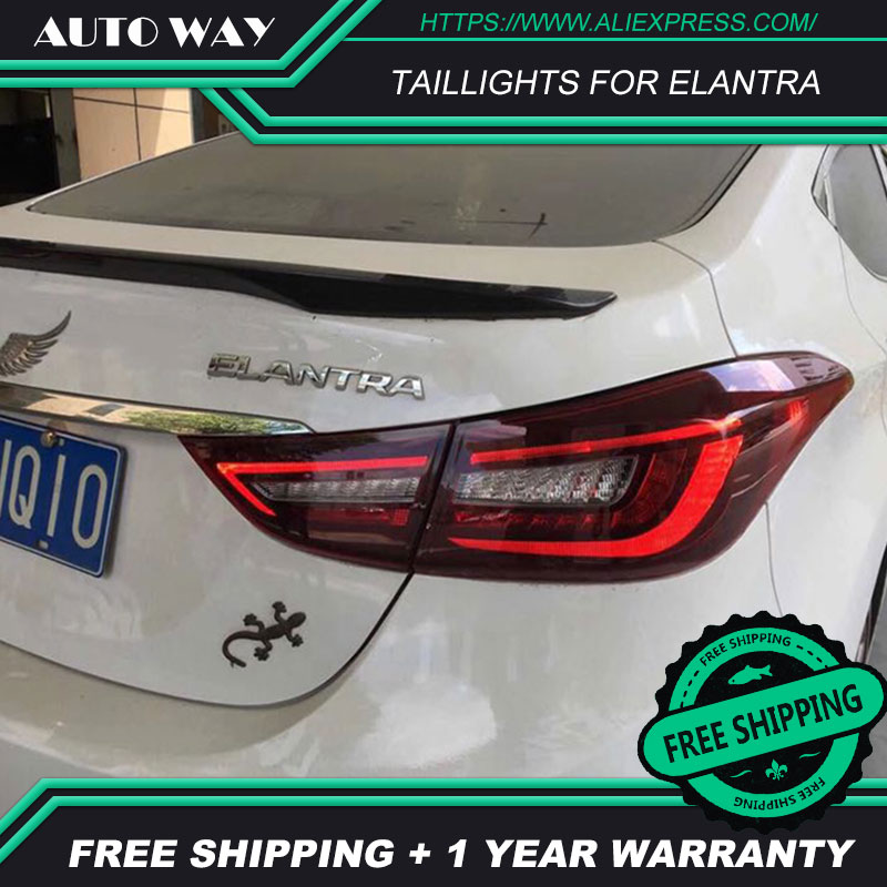 Car Styling case for Hyundai Elantra taillights 2012 2017 Hyundai Elantra taillight LED taillight TAIL Lights