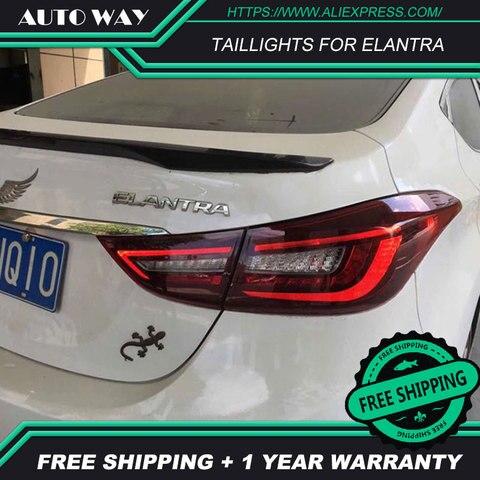 estilo do carro para hyundai elantra lanternas traseiras 2012 2017 hyundai elantra levou lanterna traseira