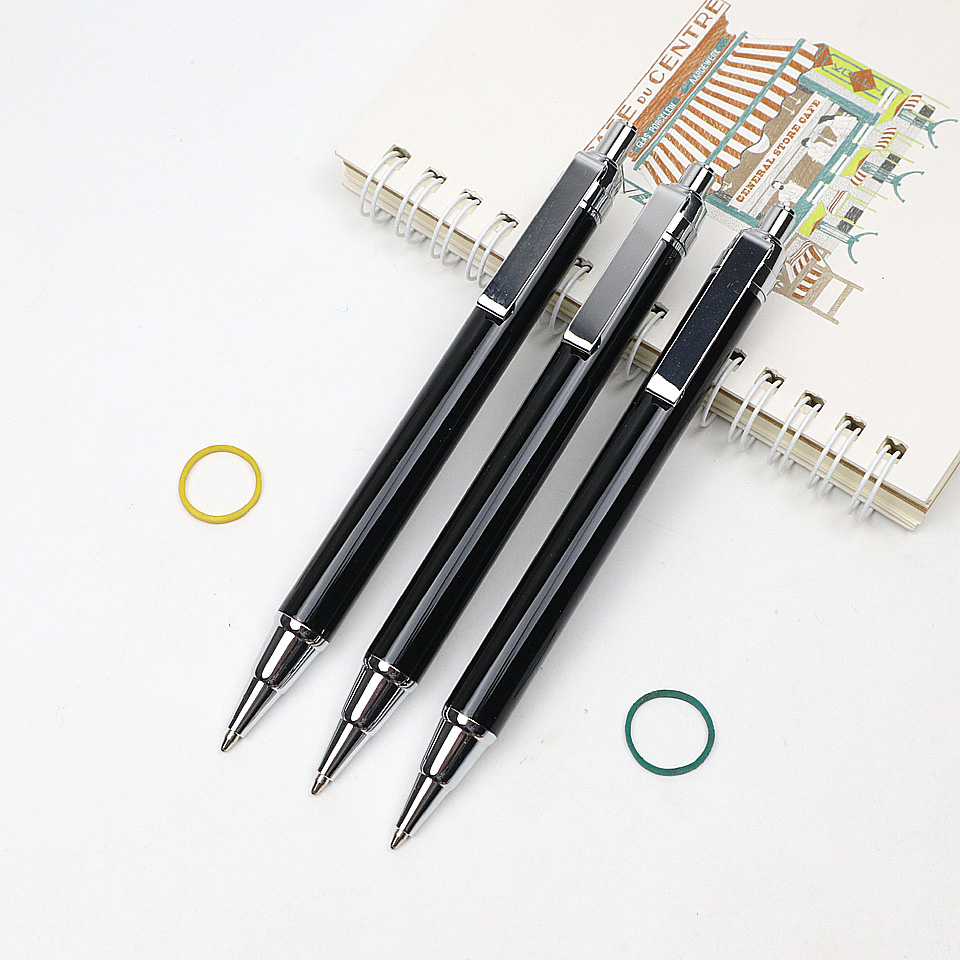 Blue And Black Ink Metal Ballpoint Pens Office School Stationery Ballpoint Pens
