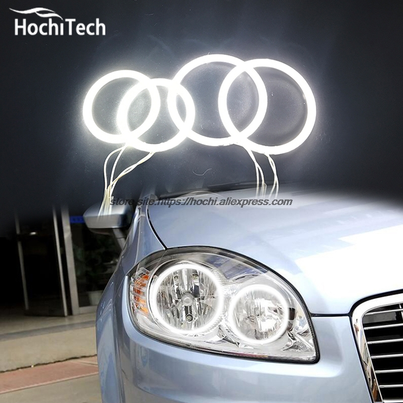 HochiTech ccfl angel eyes kit white 6000k ccfl halo rings headlight for Fiat Linea 2007 2008 2009 2010 2011 2012 2013 2014 2015 for uaz patriot ccfl angel eyes rings kit non projector halo rings car eyes free shipping