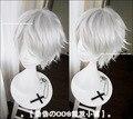 Высокое качество короткий прямой робин серебристый белый парик своих эмблема синтетические волосы аниме косплей потому парики + бесплатная парик Cap