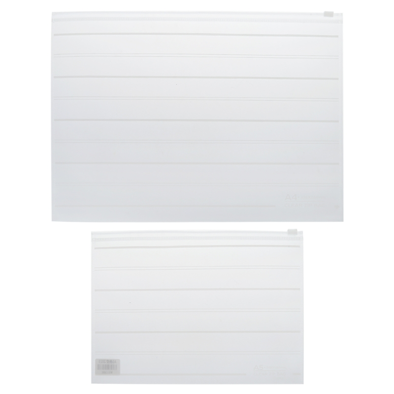PVC Folders For A4 Documents Clear Transparent A4 A5 Folder Waterproof Stationery Case Zipper Office School Stationery