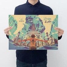 2019 Anime une pièce Action Figure affiche artisanat Vintage papier une pièce Luffy Ace Zoro Sanji affiches Luffy voulait garçons cadeaux